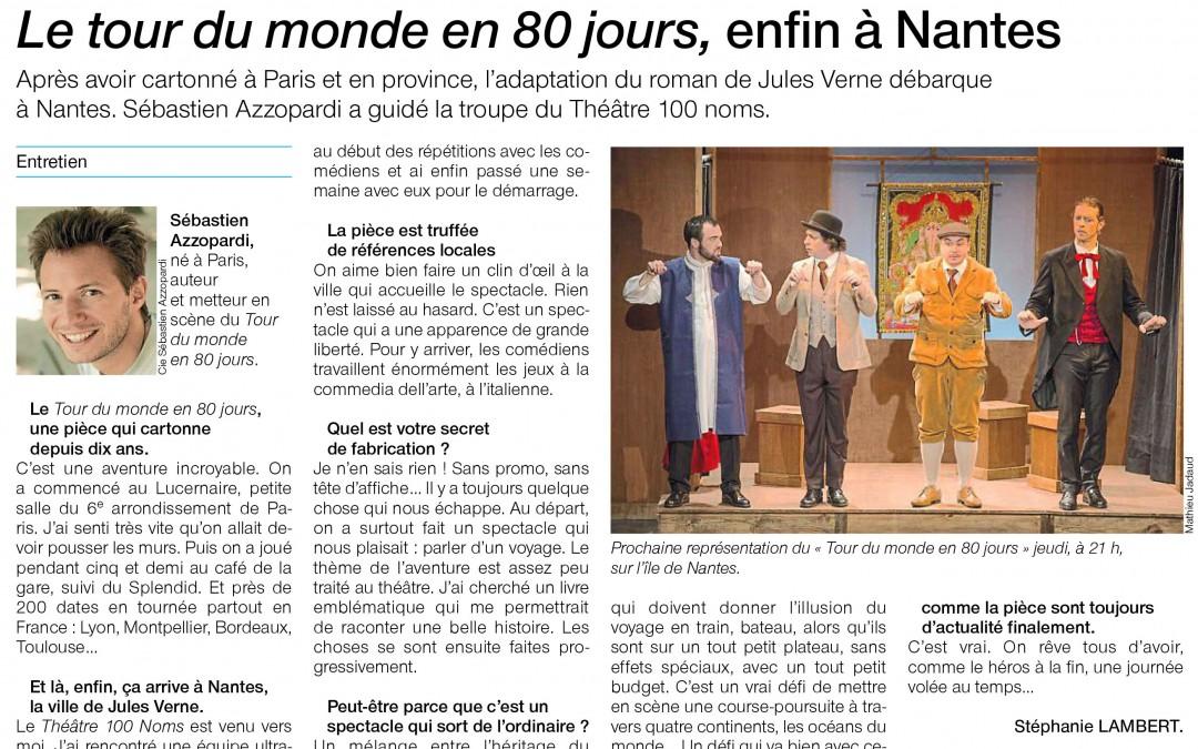 Le spectacle de Sébastien Azzopardi, Le Tour du monde en 80 jours, enfin à Nantes